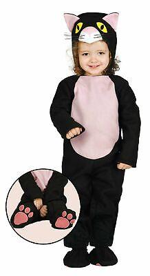 Baby Kostüm Katze Tier Katzenkostüm f. Babies 12-24 Mon. Karneval (Baby Halloween Kostüme Schwarze Katze)