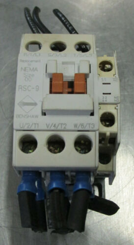 BENSHAW RSC-9 SIZE 00 MAGNETIC CONTACTOR 20 AMP 600V Used Cut Out