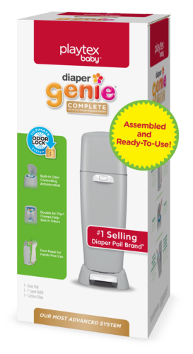 Playtex Diaper Genie Complete Assembled Pail With 270 Refill