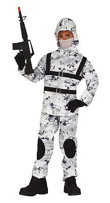 Winter Soldat Kostüm für Jungen Größe 110-146 - Kinderkostüm Fasching Karneval