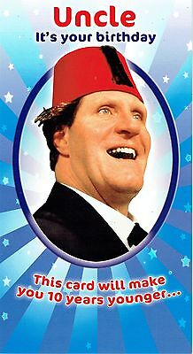 UNCLE, Official Tommy Cooper Quality Birthday Card with Jokes ()