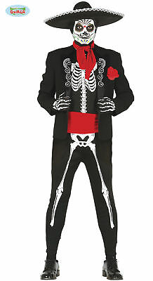 GUIRCA Costume scheletro messicano halloween carnevale uomo mod. 84754