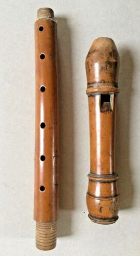 ALTO FRENCH FLUTE, about 1740, flauto dritto antico old recorder contralto