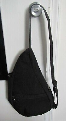 AmeriBag Healthy Back Bag Small size, Solid Black Nylon -