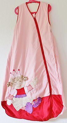♥ STERNTALER Schlafsack PRINZESSIN ROSALIE Größe 110cm rosa rot ÜBERGANG ♥ (Prinzessin Schlafsack)