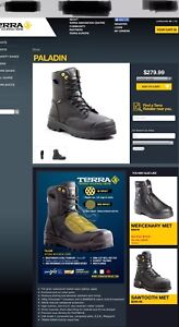 BNIB-Terra Paladin safety boots with internal metatarsal