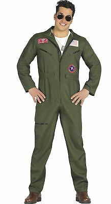 Guirca Costume pilota aereo Top Gun aviatore carnevale uomo 8487_ (X4c)