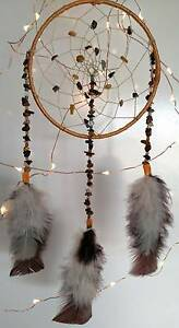 ~Handmade~ Natural Gemstone & Crystal Mookaite Dreamcatcher North Lakes Pine Rivers Area Preview