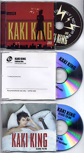 KAKI KING Junior UK promo CD album + 2 bonus promo CD singles The Cure