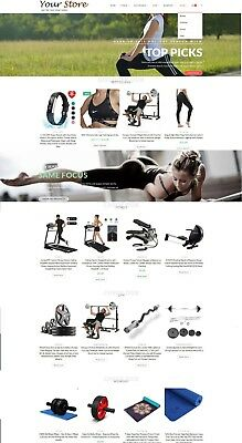 Exercise Fitness Store - Ecommerce Website Amazon Affiliate Free Hosting