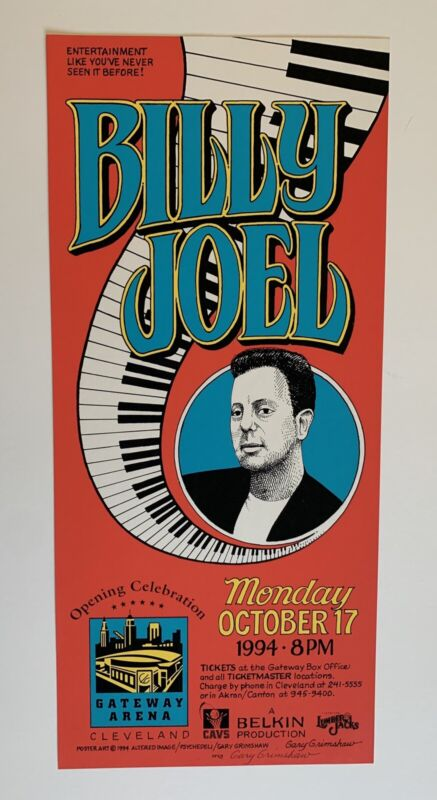 Billy Joel Original Concert Poster Original Gateway Arena Concert Poster
