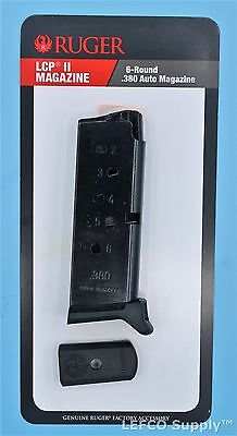 Ruger Lcp Ii  380 Pistol 6 Round Magazine 90621 Genuine Lcp 2 Clip Mag Oem New