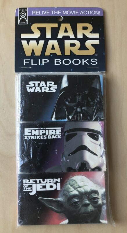 Set of 3 Fun Works STAR WARS Flip Books ANH, Empire SB & ROT Jedi New in Package