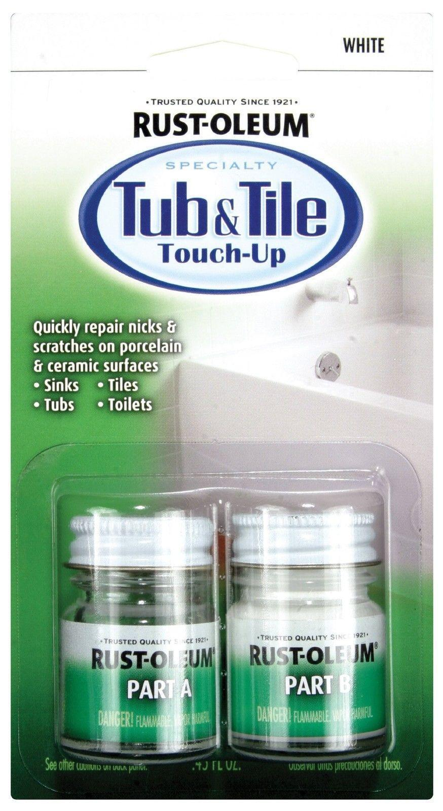 Rust-Oleum 244166 Specialty Kit Tub and Tile Touch up White | eBay
