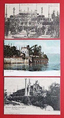 3 x AK ISOLA BELLA Lago Maggiore um 1900 La Terrazza del Giardino    ( 32192
