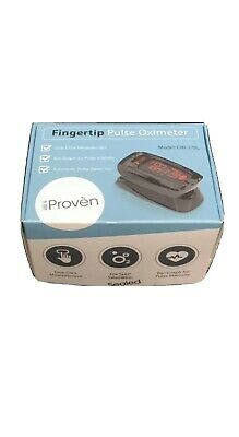 Iproven Pulse Oximeter Fingertip Blood Oxygen Saturation Monitor Case Oxi-27bl