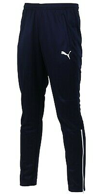 New Mens PUMA Slim Track Pants Tracksuit Bottoms Jogging Trackies Joggers - Navy