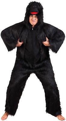 Gorilla Affe Deluxe Plüsch Overall Karneval Fasching Kostüm - Plüsch Affe Kostüme