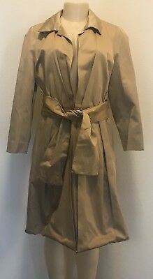 NWOT $1290.00 Max Mara Made In Italy Elegante Collection Belted Coat  Sz 12 Mara Collection