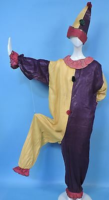 ANTIQUE 1920'S GLAZED COTTON CLOWN HALLOWEEN PARADE COSTUME FOR DRESS - 20's Costumes For Halloween