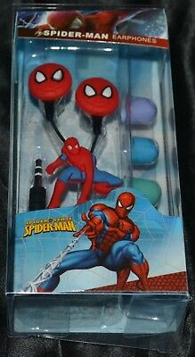 Spiderman Spider Man Headphones Head Phones Earbuds Ear Buds Tablet & Phone NEW for sale  Shipping to India