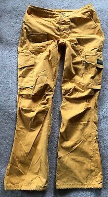 VTG Abercrombie Fitch sunflower yellow Hiking Pants Cargo 10 HTF Paratroops