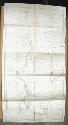 Map of Route Captains Speke & Grant across Africa Zanzibar to Mediterranean 1864