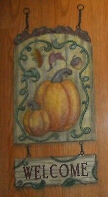 HOME OR SHOP PRIMITIVE RUSTIC COUNTRY FARM AUTUMN WELCOME SIGN, PLAQUE](Halloween Shop Decorations)