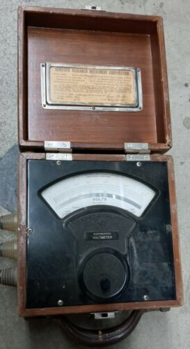 Sensitive Research Inst. Electrostatic Voltmeter - Vintage