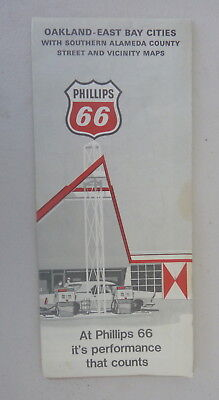 1968 Oakland Alameda County street  map Phillips 66  oil  gas Hayworth Fremont