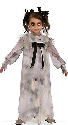 Girls Sweet Screams Costume Spooky Creepy Doll Scary Ghost Size Medium 8-10](Scary Doll Costumes For Girls)