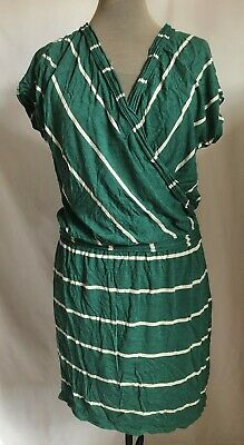 MAX STUDIO SPECIALTY PRODUCTS LABEL MINI DRESS GREEN & WHITE STRIPE SIZE MEDIUM - Specialty Dresses