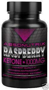 Absonutrix Raspberry Ketone 1000mg capsules Burn Caps Diet Pills pure Ketones