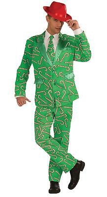 MENS CANDY CANE SUIT CHRISTMAS COSTUME DRESS SIZE XL FM72642