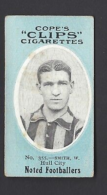 COPE - NOTED FOOTBALLERS (CLIPS 500) - #355 W SMITH, HULL CITY