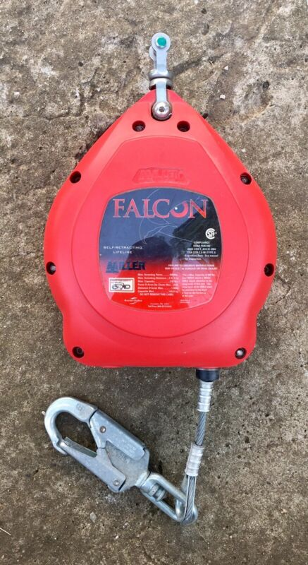 Miller Falcon Self Retracting Lifeline 30' SRL Galvanized Cable Wire Rope Safety