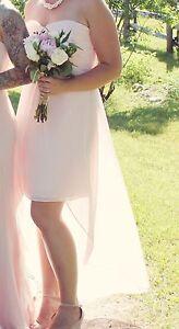 Blush pink Davids Bridal bridesmaid dress, size 12