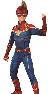 Girls Avengers Costumes (Girls Captain Marvel Costume Classic Child Childs Girl's Avenger - S M L)
