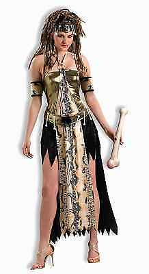 Voodoo Priestess Cave Woman Caveman Queen Dress Up Halloween Sexy Adult Costume