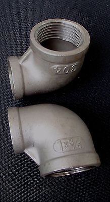 Stainless Steel Elbow 90 Reducer 1 - 34 Npt Pipe Re-100-075