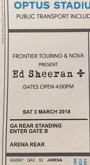 2 x Ed Sheeran Optus Stadium concert tickets