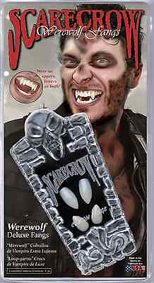 Werewolf Deluxe Fangs Halloween Teeth SCARECROW WF107 Wolf Uppers & - Wolf Fangs