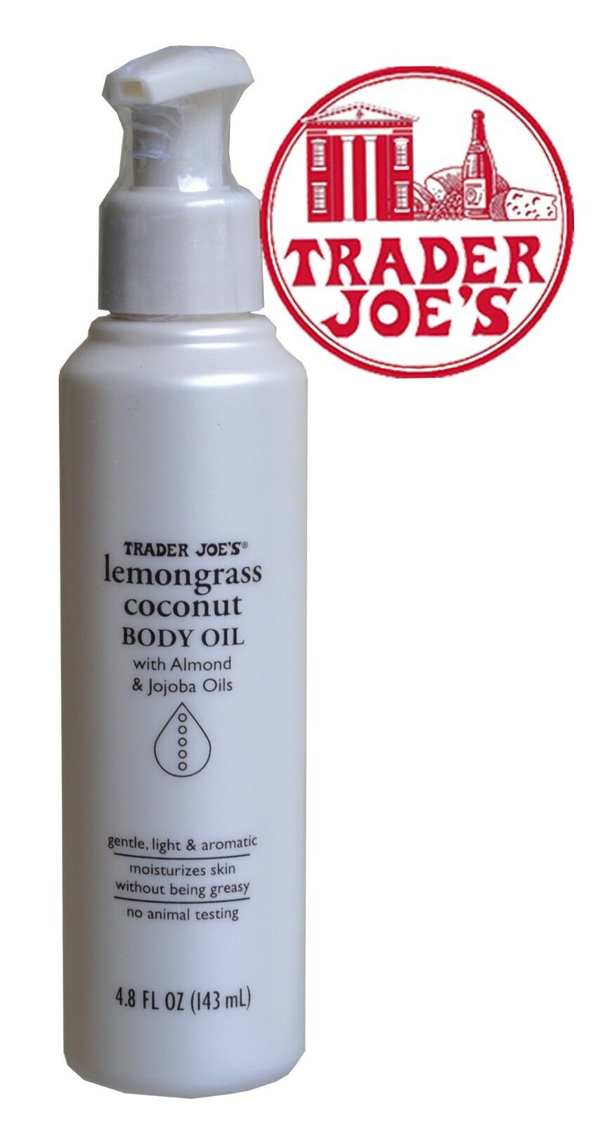 Trader Joes Lemongrass Coconut Body Oil with Almond and Jojo