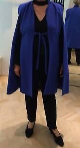 Carla Zampatti cape/coat sapphire blue Tarragindi Brisbane South West Preview