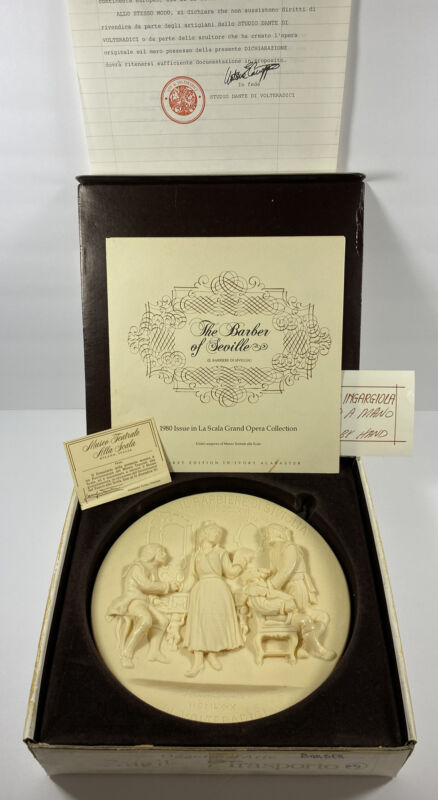 Ivory Alabaster The Barber Of Seville Hand Carved First Edition Limited