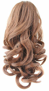 UK-Fast-Shipping-HOT-Short-Wavy-Curly-Ponytail-Claw-Clip-in-Hair-Extension