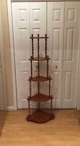 5 Tiered Maple Corner Shelf