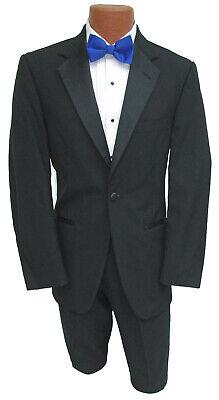 Men's Black After Six Roma Tuxedo Jacket One Button with Satin Notch Lapels 66XL Black Notched One Button Tuxedo