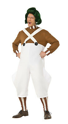 Adult Deluxe Oompa Loompa Costume With Wig  Willy Wonka Adult Size Standard
