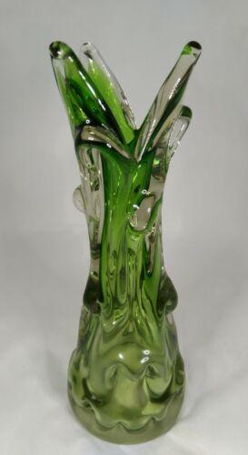"BERANEK SKRDLOVICE CZECH ART GLASS VASE.10"".5 inch"